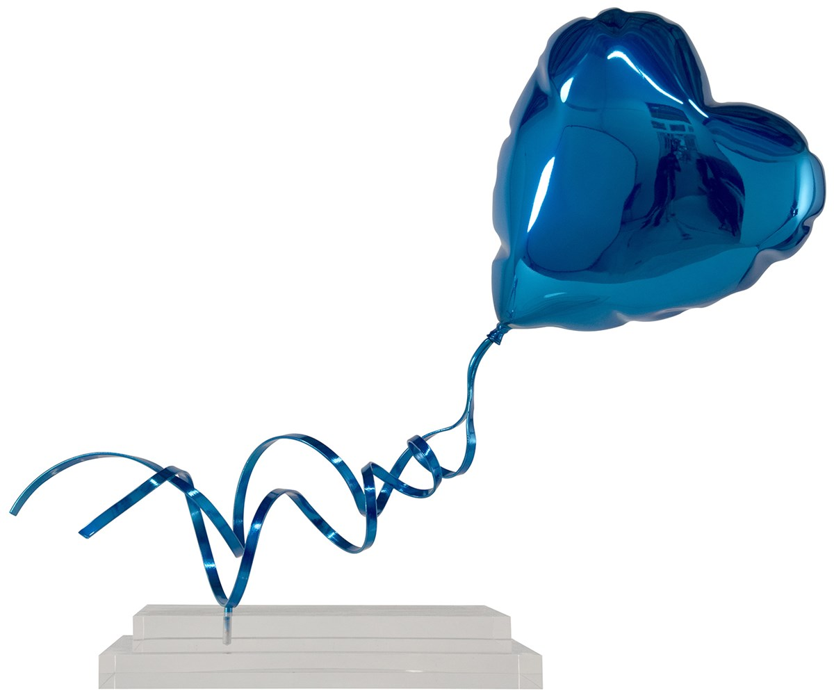Flying Balloon Heart (Blue)